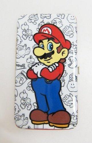 Nintendo Super Mario Juniors White Hinge Wallet
