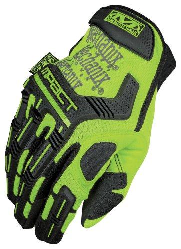 Mechanix Wear Smp-91-011 Safety Mpact Hi-Viz Gloves, Yellow, Xlarge