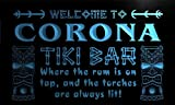 Pm2209-b Corona Tiki Bar Mask Beer Neon Light Sign