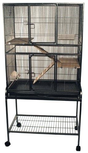 Flight cage in dark anitque finish