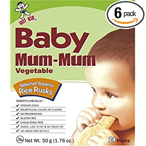 Hot Kid Baby Mum-Mum Vegetable Flavor Rice Rusks, 24-Count (Pack of 6)
