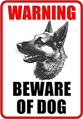 "Outdoor/Indoor 8.27"" high x 5.51"" wide Home Business BEWARE OF DOG Window Door Wall Security Warning Alert Sticker Decals **Back Self Adhesive Vinyl**"
