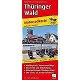 Motorradkarte Thüringer Wald: Mit Tourenvorschlägen, GPS-Tracks als Gratis-Download, Ausflugszielen, Einkehr- und Freizeittipps, reissfest, wetterfest, abwischbar, GPS-genau. 1:200000