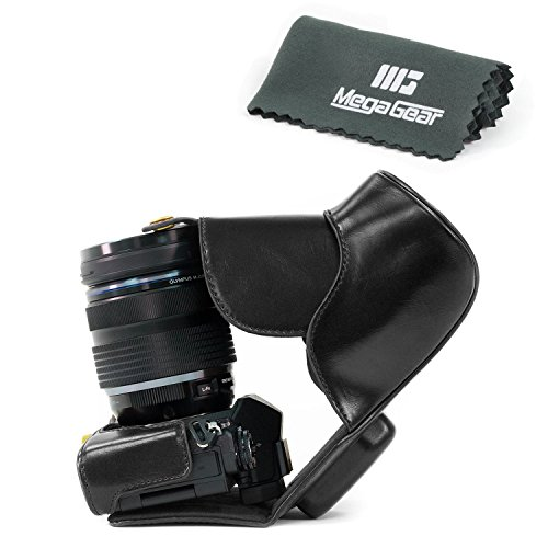 megagear-leder-kameratasche-fur-olympus-om-d-e-m5-mark-ii-kompakte-systemkamera-schwarz