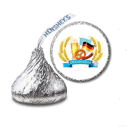 216 Oktoberfest Labels/Stickers for Hershey's Kisses Candies - Party Favors