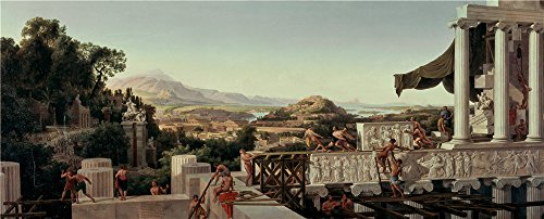 ['August Wilhelm Julius Ahlborn Blick In Griechenlands Blute ' Oil Painting, 10 X 25 Inch / 25 X 63 Cm ,printed On Perfect Effect Canvas ,this Amazing Art Decorative Prints On Canvas Is Perfectly Suitalbe For Game Room Artwork And Home Decor And] (Animals That Begin With S)
