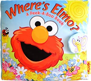 SoftPlay Peek-A-Boo Where's Elmo A Children's Book