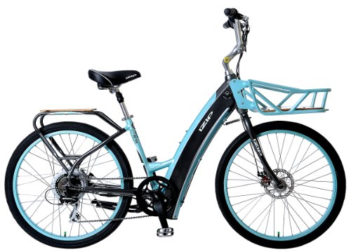 IZIP E3 Metro Electric Bike Low Step Frame - Grey/Blue