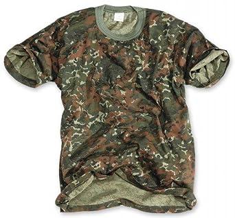 Classic Army Style T-Shirt Kurzarm Shirt 6 Farben wählbar S - 3XL S,Flecktarn