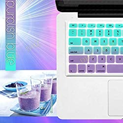 DHZ Green with Purple Gradient Keyboard Cover Silicone Skin for MacBook Pro 13