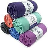 Bikram Hot Yoga Towel - Microfiber Non Slip Skidless Yoga Mat Towels for Yoga, Exercise, Fitness, Pilates