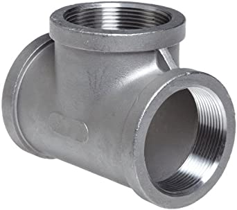 Stainless Steel 304 Cast Pipe Fitting, Tee, MSS SP-114, NPT Female