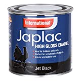 International Japlac High Gloss Enamel Paint - Jet Black - 250ml