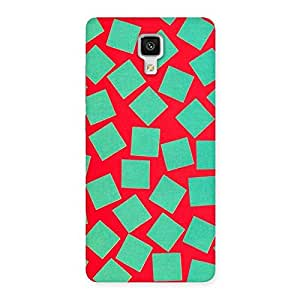 Special Green Red Print Back Case Cover for Xiaomi Mi 4