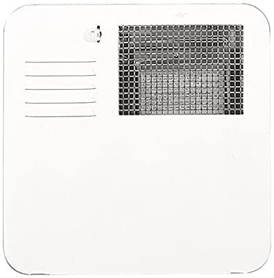 Suburban 6261APW Polar White SW6 Radius Corner Water Heater Door with Mounting Flange