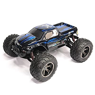 Hosim 35+MPH 1/12 Scale Electric RC Car Offroad 2.4Ghz 2WD High Speed Remote Controlled Car Waterproof (Color: Blue)