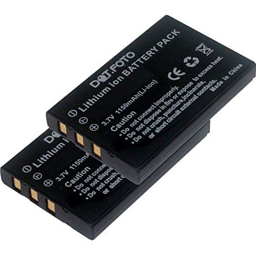 2x Dot.Foto Qualitätsakku für SilverCrest PAC NP60 - 3,7v / 1150mAh - Garantie 2 Jahre - SilverCrest DV-5000HD