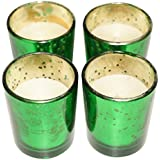 ASIAN AURA Wax Votive Candle (Green, 24 Cm X 7 Cm X 6.5 Cm, Set Of 4)