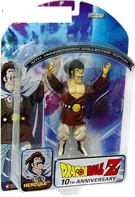 Picture of Jakks Pacific 2005 Dragon Ball Z 10th Anniversary Fully Poseable Collectible Figure- Hercule (Mr. Satan) (B000VFAH1G) (Dragon Ball Action Figures)