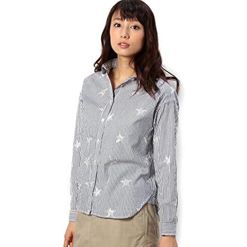 (コーエン) COEN 【NOMA textile design別注】スター刺繍ワークシャツ 76106045026 79 Navy M