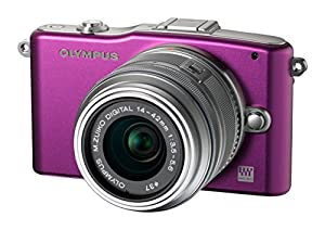 "Olympus Pen E-PM1 12.3 MP CMOS Sensor Digital Camera with 14-42mm II Lens and 3"" LCD Screen (Purple)"
