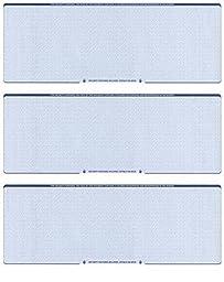 Blank Checks Paper Stock-Checks 3 On A Page-100 Per Pack (Blue Diamond) by Check O Matic