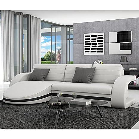 Con la función del sueño Innocent sofá de cuero sintético blanco con bisel sofá Guiani