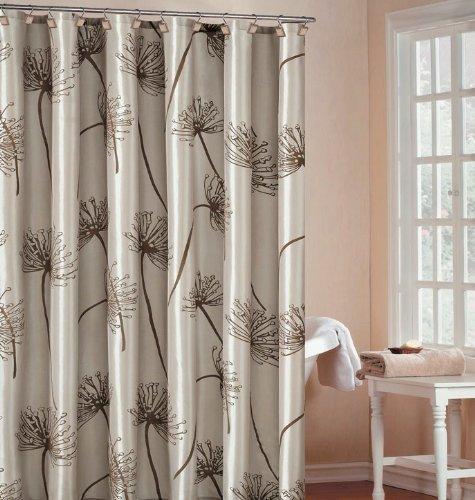 Mighty Gadgetu0027s Soleil Luxury Light Beige Shower Curtain 70x72