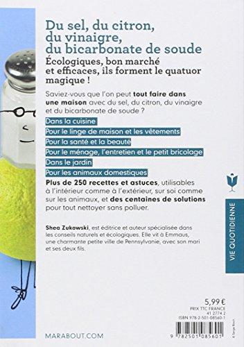 Libro du sel du citron du vinaigre du bicarbonate de soude di shea zukowski - Bicarbonate de soude citron ...