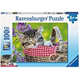 Ravensburger Puzzles Sleeping Kittens, Multi Color (100 Pieces)
