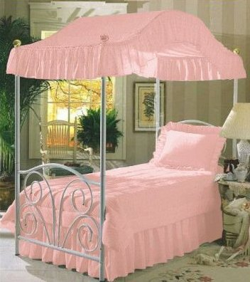 Pink Twin Size Canopy Bed Top Fabric & Pink Twin Size Canopy Bed Top Fabric | Best Buy Drape Fabric For ...