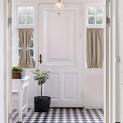Aquazolax Plain Blackout Curtains French Door Panels Premium - 1 Piece, 25
