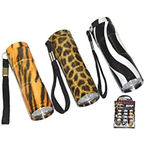 LED Flashlight Animal Print Designs