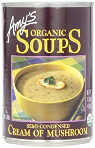 Amy's Organic Cream of Mushroom Soup, 14.1-Ounce Cans (Pack of 12)