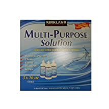 Kirkland Signature Multi-Purpose Sterile Solution for Any Soft Contact Lens 3 Count