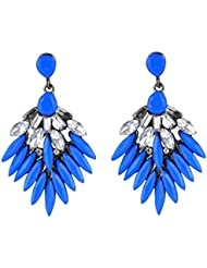 Stylish Fancy Party Wear Trendy Why So Blue Studded Earing For Girls And Women By Crunchy Fashion