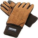 (マルカワジーンズパワージーンズバリュー) Marukawa JEANS POWER JEANS VALUE 手袋 メンズ グローブ スマホ対応 スマートフォン対応 フェイクスエード 裏フリース 高機能中綿素材 3color Free ブラウン