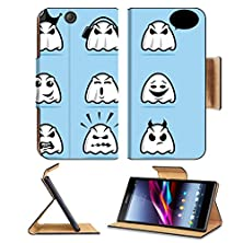 buy Luxlady Premium Sony Xperia Z Ultra C6806 C6833 Flip Case Collection Of Various Ghost Cartoon Icons Image 22970869 Pu Leather Card Holder Carrying