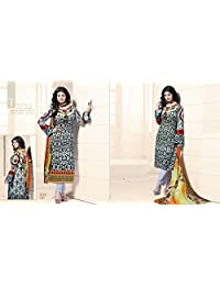 Chandni Chowk Cotton Semi Stiched Salwar Suit - B019RQ1SZS