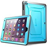 iPad Air Case, SUPCASE Heavy Duty Beetle Defense Series Full-body Rugged Hybrid Protective Case Cover with Built-in Screen Protector for Apple iPad Air (Blue/Black, not fit iPad Air 2)