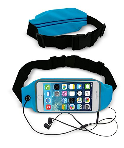 Waist Belt Bag Case Running Belt Phone case Series Protective Cases and Sport Exercise Gym belt Waist Packs Bag and Fitness Expandable Weather Resistant  (Blue)