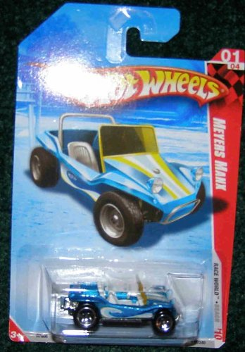 HOT WHEELS 2010 RACE WORLD 01/04 BLUE BEACH MEYERS MANX - 1