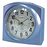 Smart Effects Technoline Geneva L Quartz Alarm Clock with Snooze and Light and Metallic Blue Colour