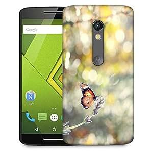 Snoogg Climbing Butterfly Designer Protective Phone Back Case Cover For Lenovo Motorola Moto G4