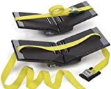 The Kayak Wing - Kayak Rack with Yellow Straps and Universal Crossbar Fit by Great Lakes Kayak LLC