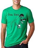 The Tea Rex T-Shirt Funny Graphic Dinosaur Gentlemen Monocle Tee