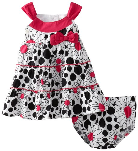 Lilybird Baby-Girls Infant Color Dress, Black, 18  Months