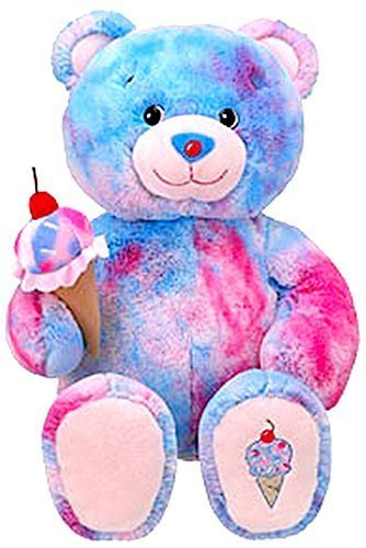 build-a-bear-bubblegum-scented-teddy-baskin-robbins-ice-cream-cone-stuffed-plush-toy-animal