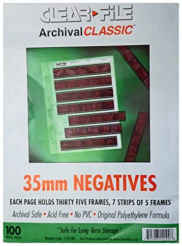 ClearFile Archival Classic ~ 35mm Negative Pages, 100 Pack (35 Mm Negative Protector Sleeves compare prices)