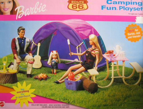Barbie Route 66 Camping Fun Playset (2000) front-793229